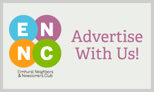 Illustrated banner promoting advertisements with ENNC
