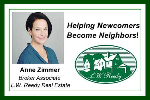 Graphic of Anne Zimmer's LW Reedy advertisement