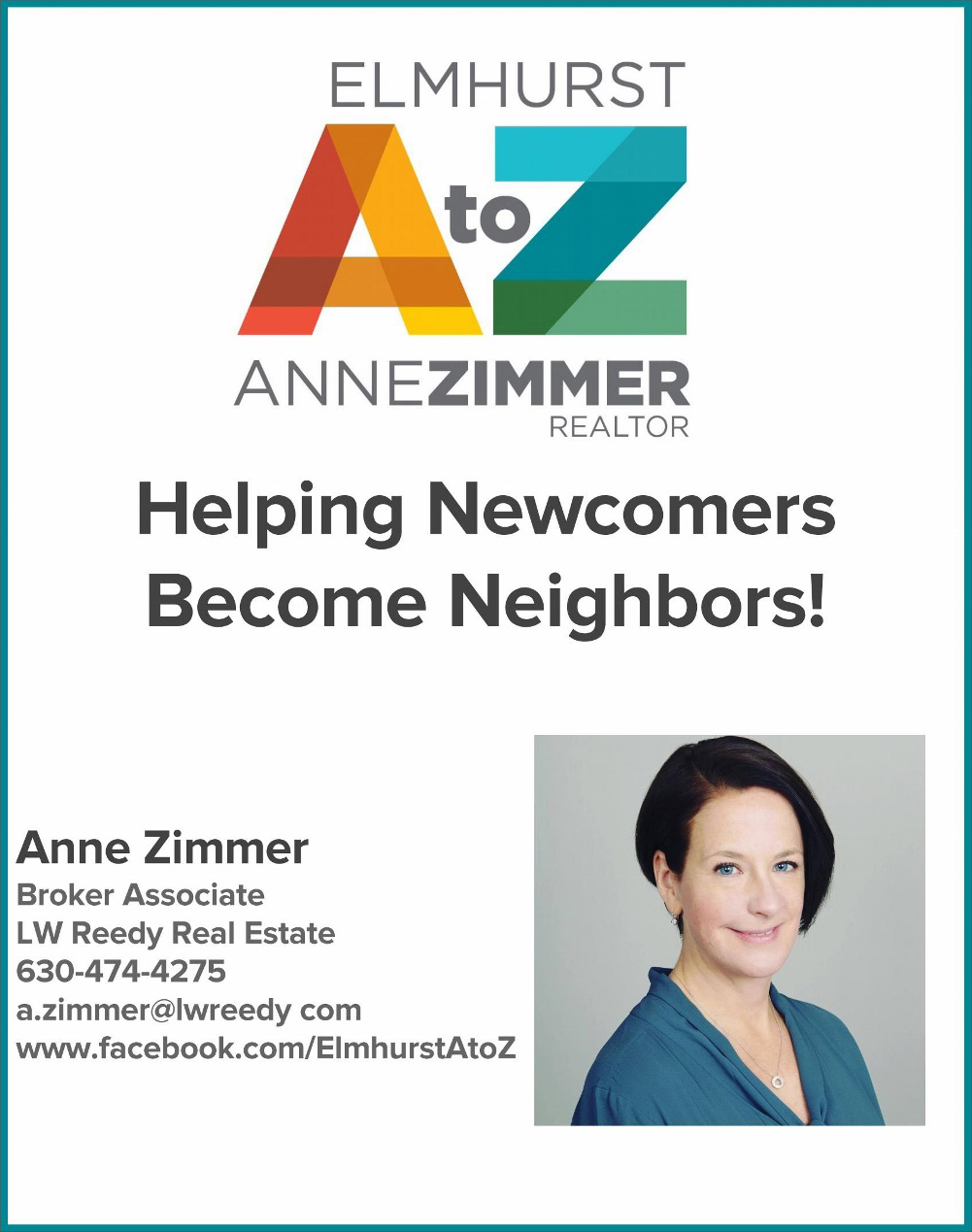 ENNC advertisement for Anne Zimmer